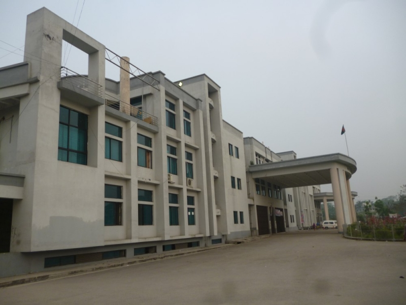Front view of hospital